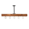 Recessed Wood Beam Chandelier | Early American