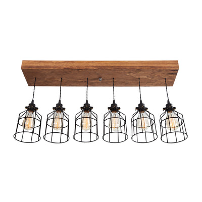 Wood Pendant Light | Early American