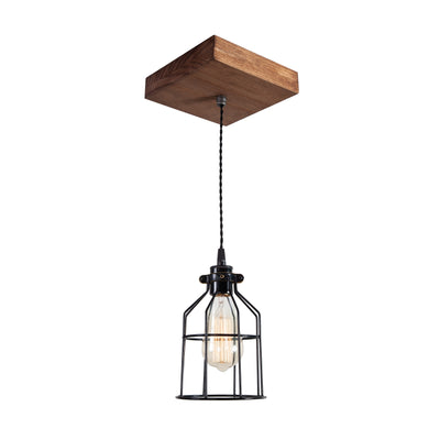 Single Wood Pendant Light | Early American