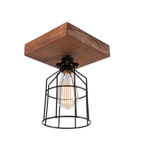 Single Wood Ceiling Light | Medium
