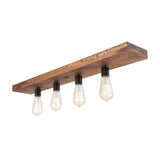 Wood Flush Mount Ceiling Light | Early American