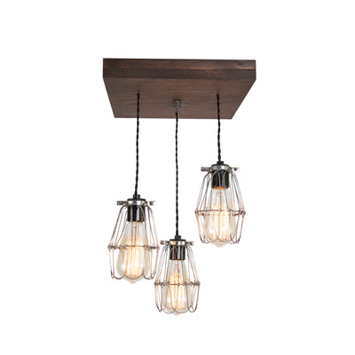 Old Elm Wood Multi Pendant Farmhouse Chandelier