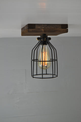 Single Wood Ceiling Light