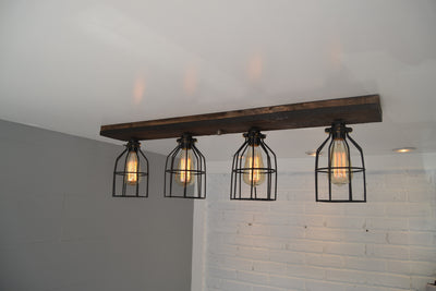 Wood Flush Mount Ceiling Light