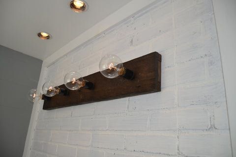 Wood Vanity Light