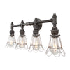 Devon Four Socket Vanity Light | Wire Cages
