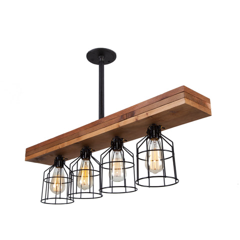 Fayette Rustic Triple Wood Light