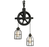 Black Barn Pulley Light