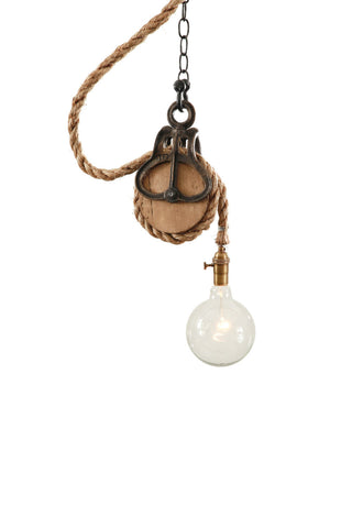 Rustic Pulley Light