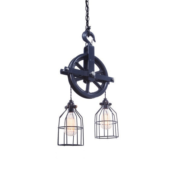 Barn Pulley Light | Blue