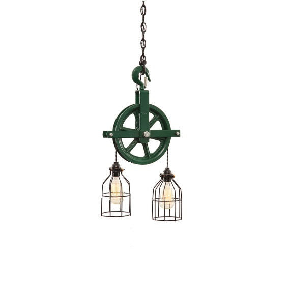 Barn Pulley Light | Green