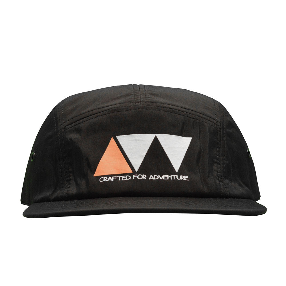 CRAFTED FOR ADVENTURE NYLON 5-PANEL - BLACK