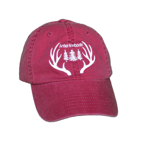 Big Antlers Dad Hat - Weathered Red