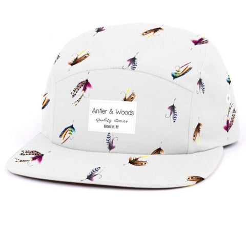 Fly Fishing 5 Panel - White