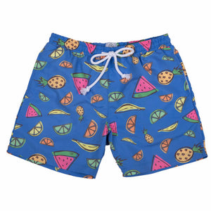Market Swim Trunks - Blue - WHOLESALE