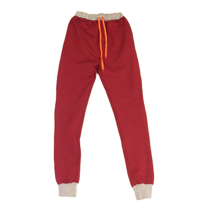 Hawthorne Color Block Joggers - Maroon/Grey