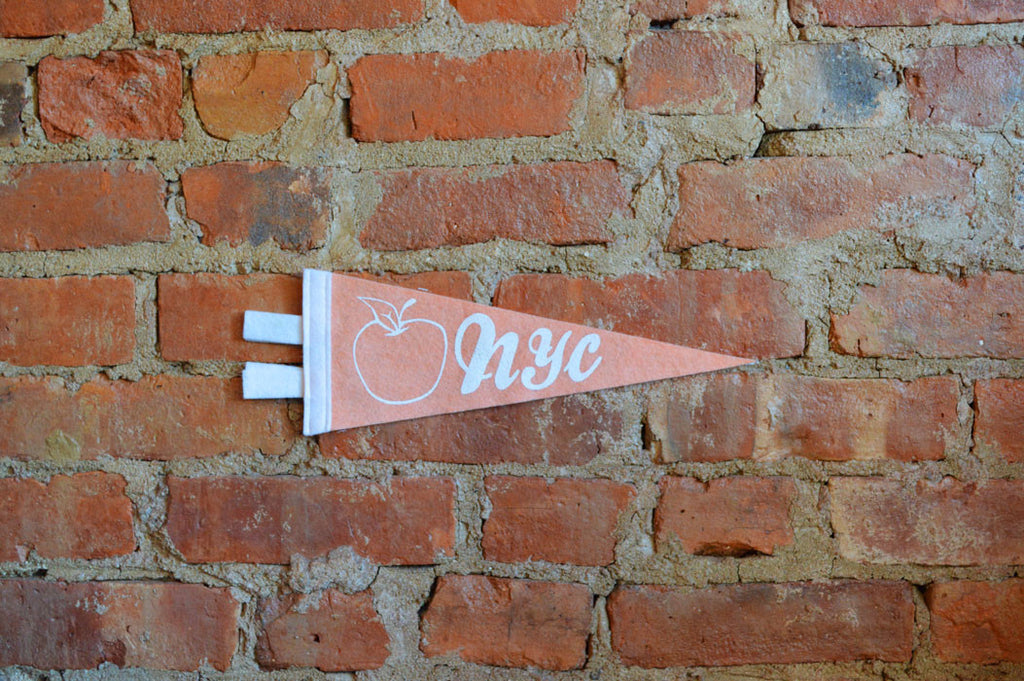 NYC PENNANT - SMALL PEACH