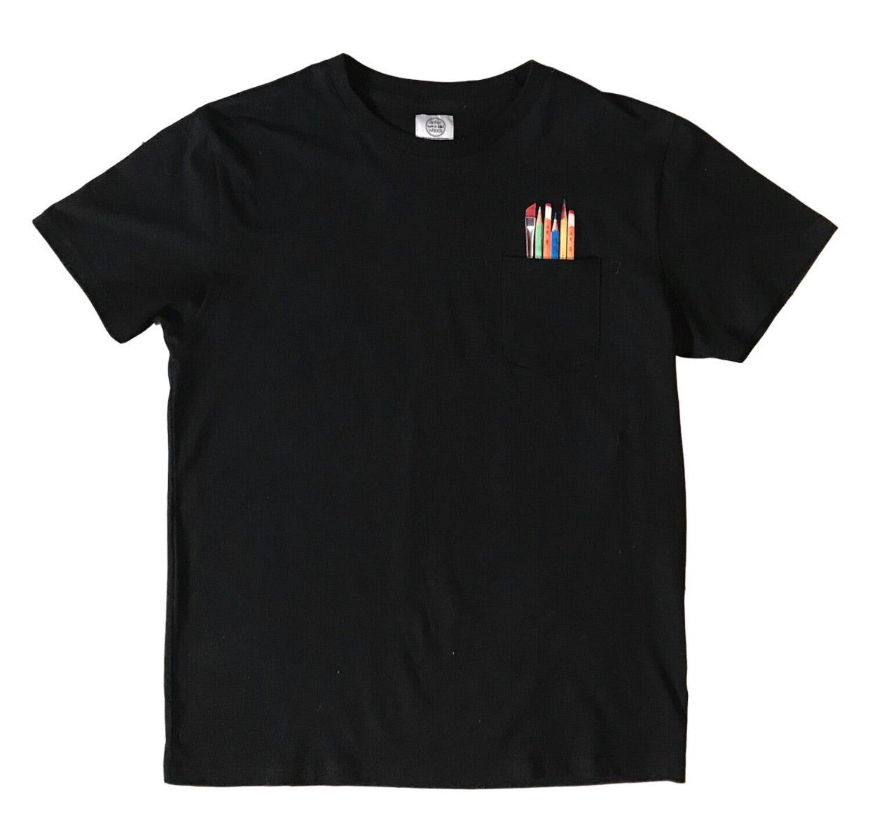 Art Supplies Pocket Tee - Black