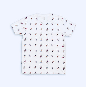 Fly Fishing Patterned Tee - White