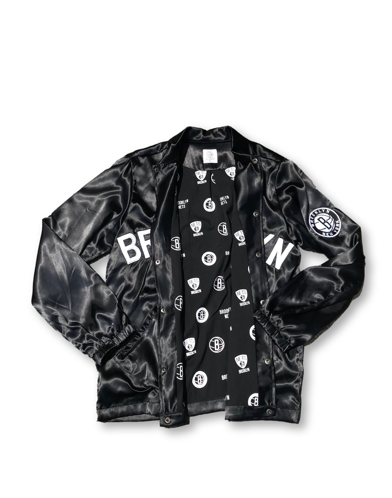 Antler & Woods x Brooklyn Nets Satin Coaches Jacket