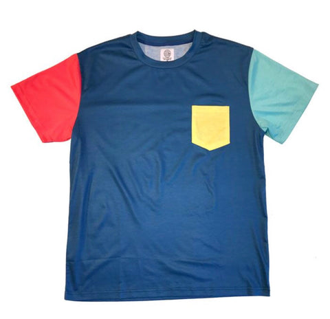 Color Block Tee - Deep Blue