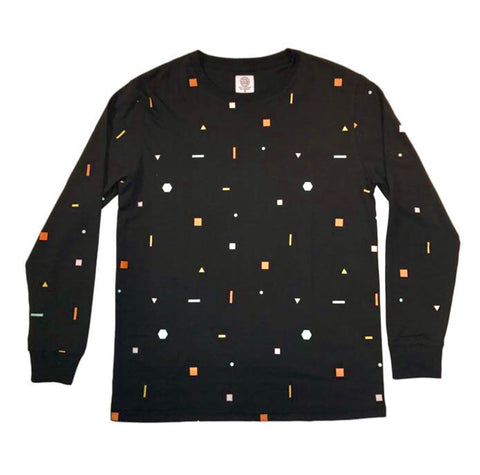 Scatter Shapes Long Sleeve Tee - Black