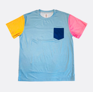 Color Block Tee - Light Blue