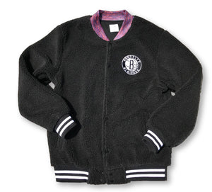 Antler & Woods x Brooklyn Nets Sherpa Varsity Jacket
