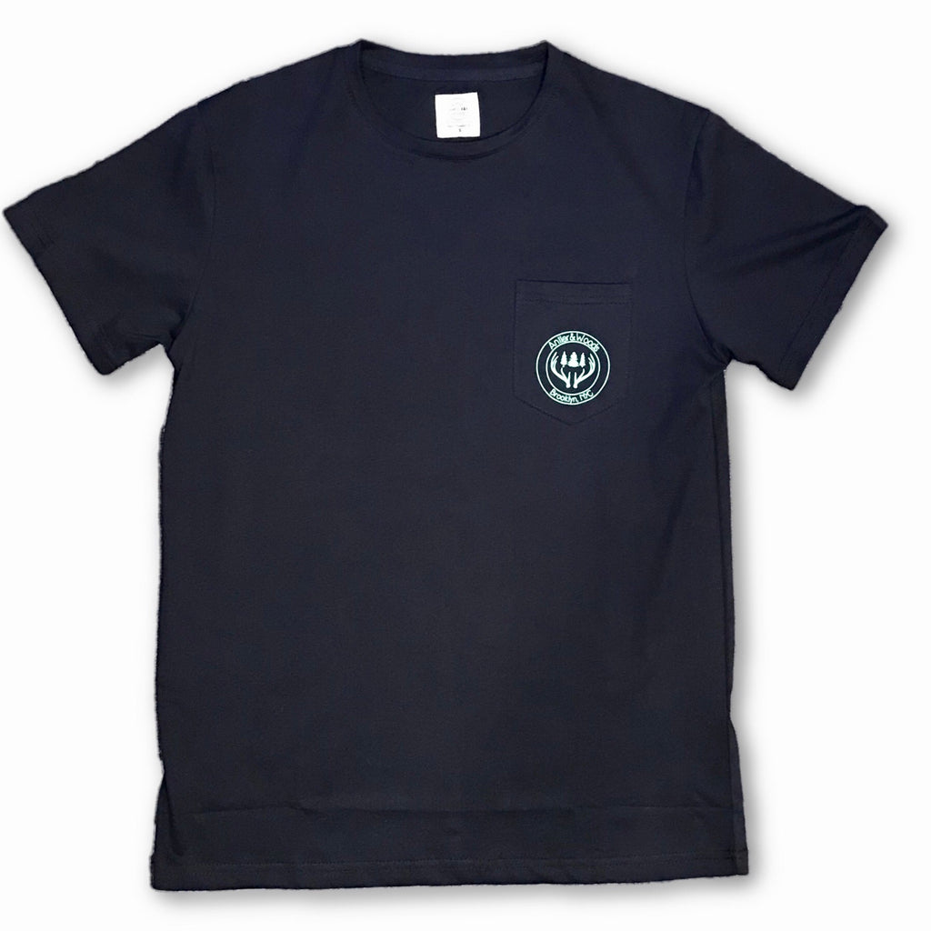 A+W Logo Pocket Tee - Navy