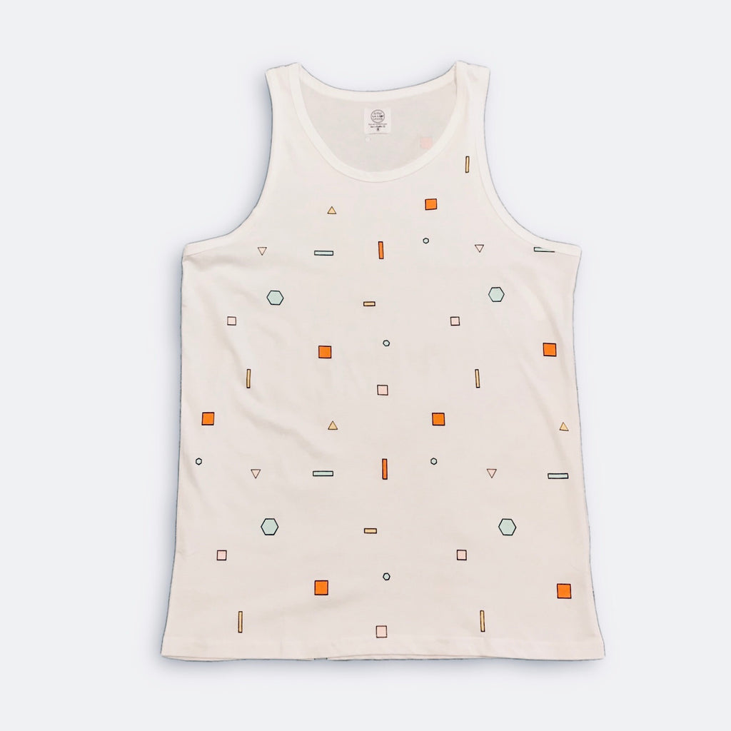 Scatter Shapes Tank -White