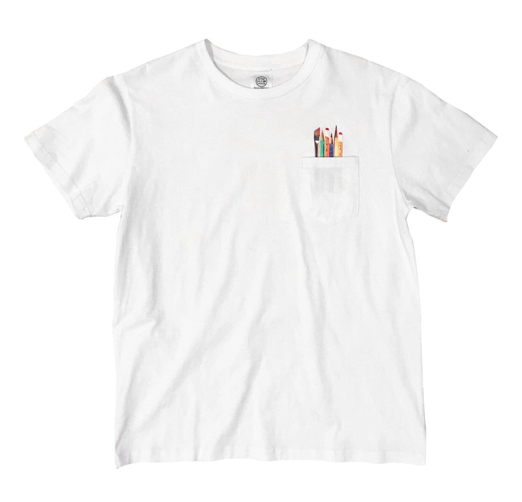 Art Supplies Pocket Tee - White