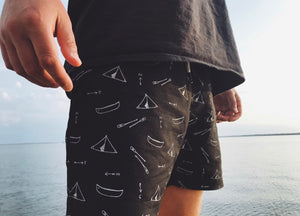 Canoe Camp Swim Trunks - Black