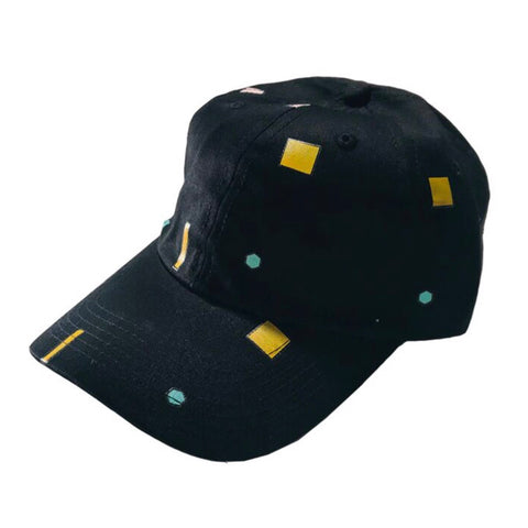 Scatter Shapes Hat - Black