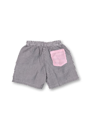 Sailor Seersucker Shorts - Grey/Salmon