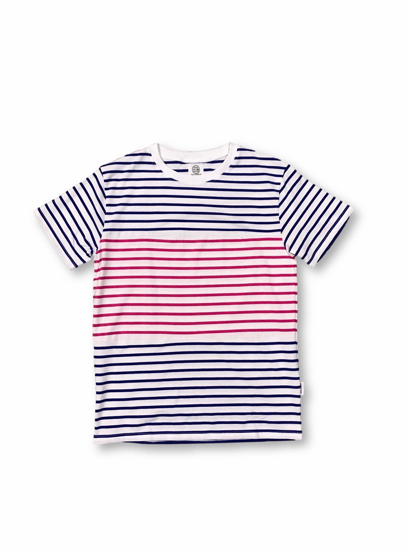 Sawyer Striped Tee - Blue/Pink