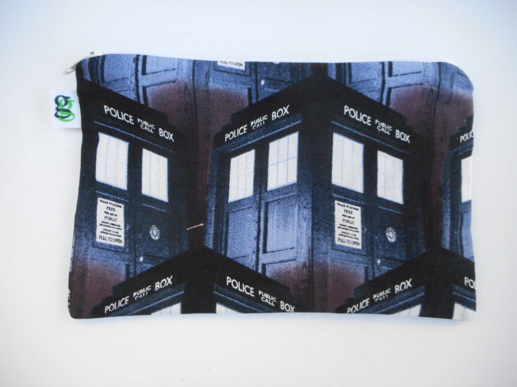 Snack Bag or gadget bag Original Dr. Who Tardis Daleks Exterminate Various prints to choose from