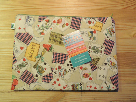 Ipad Handmade Travel Case Alice in Wonderland Japanese Print - groovygurls