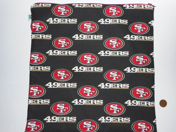 Various Zipper sized Bags Eco Friendly SF Giants 49ers San Francisco Greenbay San Diego Seattle Miami New Orleans Denver NFL College Football - groovygurls