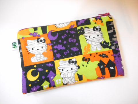 Halloween Special Padded gadget cosmetic makeup Bag Spooky Hello Kitty Print - groovygurls