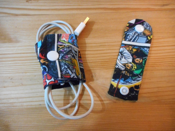Set of 2 Cord Keepers - Gadget Wraps - Electronic Holder - Cord Organizers - Cable Organizers for Home - Cell Phone Chargers - groovygurls