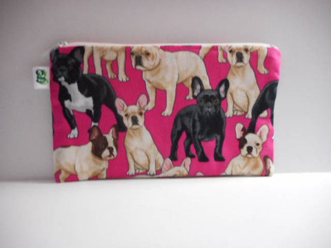 Reusable Zipper Snack Bag BPA Free Eco-Friendly French bulldogs frenchy France print - groovygurls