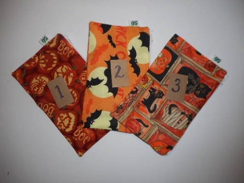 Reusable Zipper Snack Bag BPA Free Eco-Friendly Happy Halloween Jack O Lanterns Spiders, bats & witches  Print - groovygurls