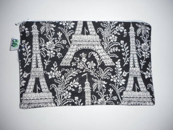 Reusable Zipper Sandwich & Snack Bags pouch BPA Free Eco Friendly Set of 2 Paris Eiffel Tower print - groovygurls