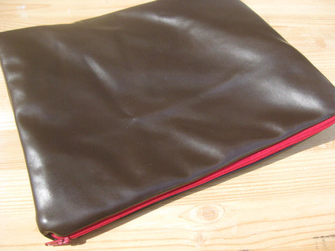 Vegan Leather Ipad or Galaxy Handmade Travel Case Gift for Him