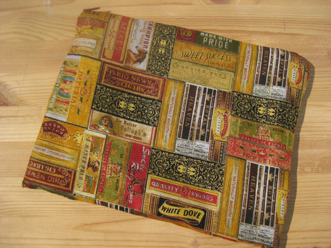 Cigar Box Print Ipad or Galaxy Handmade Travel Case Gift for your man geekery - groovygurls
