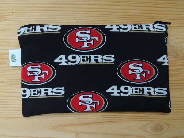 Set of 2 Reusable Zipper Sandwich & Snack Bags BPA Free Eco Friendly SF 49ers San Francisco  California Football NFL Print