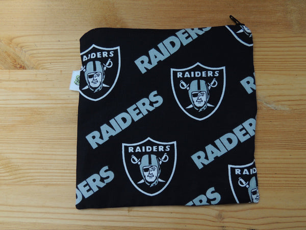 Super Bowl Set of 2 Reusable Zipper Sandwich & Snack Bags BPA Free Eco Friendly Oakland Raiders California Football NFL Print - groovygurls