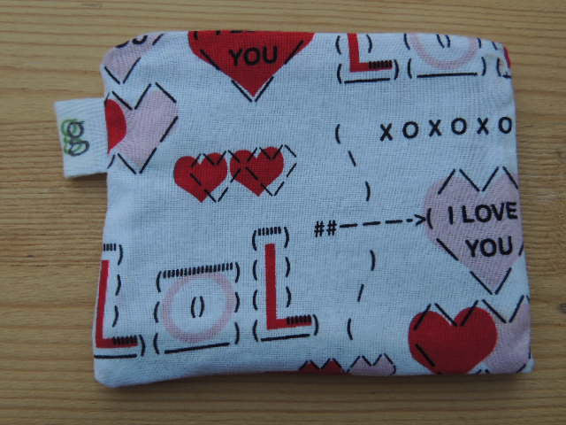 Padded Zip Pouch purse Gadget Coin Case - LOL Valentines day love