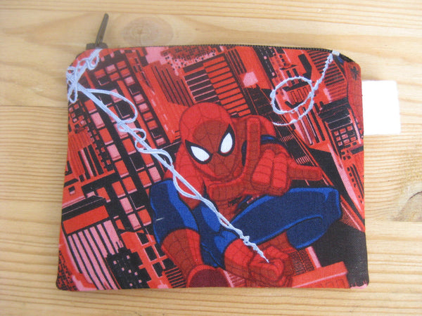 Padded Zip Pouch purse Gadget Coin Case - Ultimate Spider-man Spiderman Marvel Character print