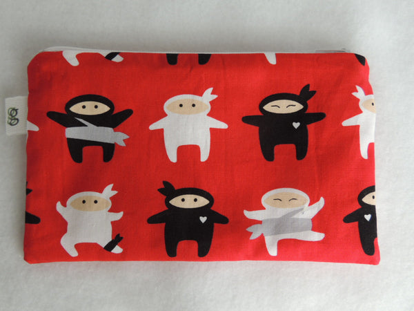 Reusable Zipper Sandwich and Snack bags Eco Friendly Set of 2 Japanese Ninja Fighters - groovygurls